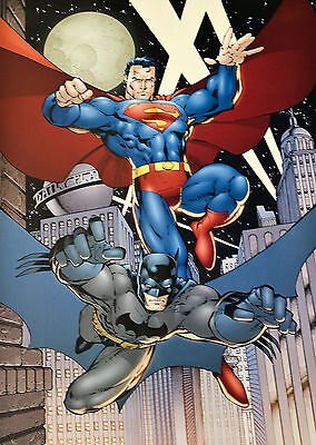 Warner Bros Batman And Superman Lithograph By Jim Lee