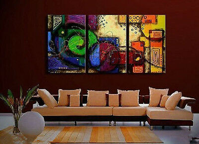 Modern Wall Decor Art Abstract Huge Oil Painting On Canvas 3pc(no framed)