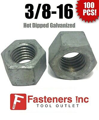 Square Nuts Hot Dipped Galvanized Grade 2-1//4-20 UNC Qty-250