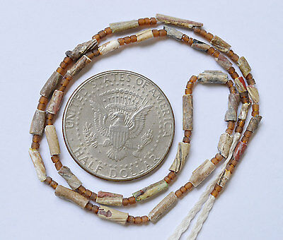 Ancient Roman Glass Beads 1 Strand Twist 100-200 Bc 0409