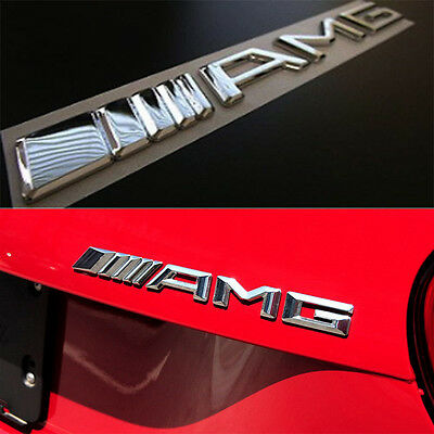 New 3D Car Logo Silver Chrome Trunk Sticker Decal Badge Emblem Autos Vehicles