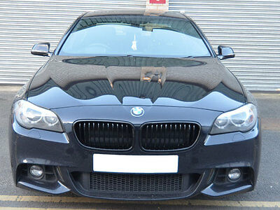 BMW F10 F11 F18 5 Series Kidney Grill Grille Grills Gloss Black 2010 ONWARDS