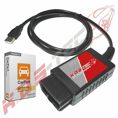 ELM327 Diagnoseinterface Vollversion USB EOBD VAG Opel Mercedes BMW Fiat uvm.