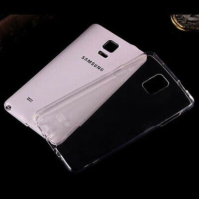 2xUltra Thin Clear Gel skin case cover For Samsung Galaxy Note 4 Edge