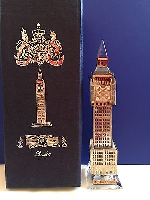 London Big Ben Gold Plated Crystal with changing lights Souvenir Gift