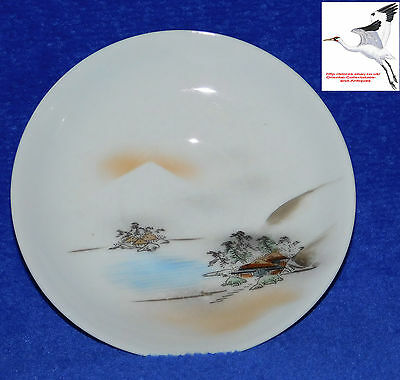 Eggshell Porcelain Saucer Replacement for set Japanese Kutani Hand Painted Asian