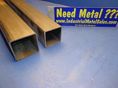 "Steel Telescoping Square Tube Combo  2-1/2"" and 2-1/4"" x 24""-Long x .105"" Wall"