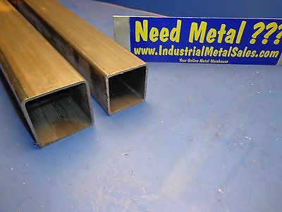 "Steel Telescoping Square Tube Combo  2-1/2"" and 2-1/4"" x 36""-Long x .105"" Wall"