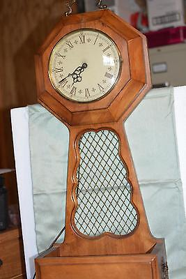 Vintage TREND CLOCK Zeeland, MI Flower Planter Electric 1970s Retro Shelf Wall