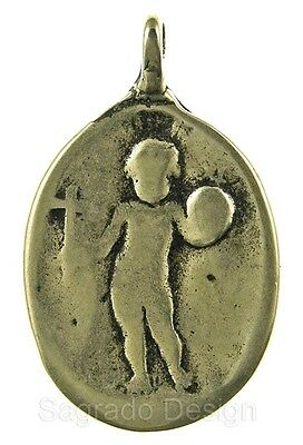 STANDING CHILD JESUS / FACE OF MADONNA bronze Medal, cast from antique original