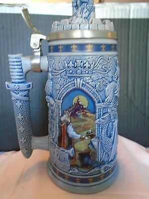 Avon Knights Of The Realm Lidded Stein 1995