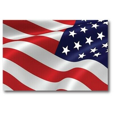 American Flag Reverse Waving Magnet 4x6 inch Decal for Car Truck SUV or Fridge