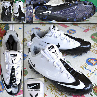 Nike Vapor Carbon Fly TD Low Mold White/BLACK Football Cleats Size 15