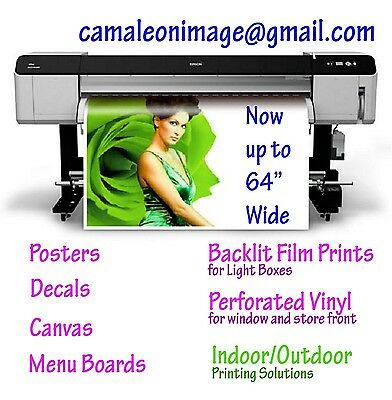 "Large High Quality Poster From Your Photo or Graphic Design 40""x60"""