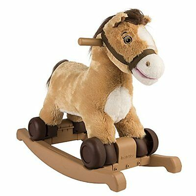 NEW Rockin' Rider Charger 2-in-1 Pony Ride-On - Soft, Huggable Body Pony Ride on