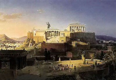 Art Oil painting leo von klenze - the acropolis at athens nice cityscape canvas