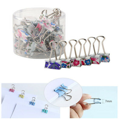 40 Pcs Cute Style Metal Binder Clips Paper Clips Clamps Binding For Office 19mm