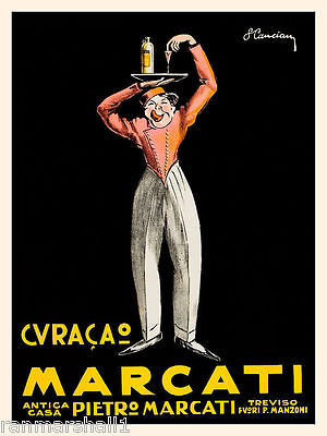 1900's Marcati Wine Italian Italy Spirits Advertisement Art Poster