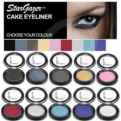Stargazer Cake Cream Powder Eyeliner Red Pink Black Pressed Cake Eye Liner