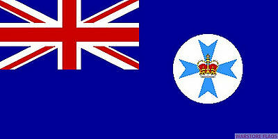 QUEENSLAND AUSTRALIA FLAG 3X2 feet 90cm x 60cm FLAGS Australian