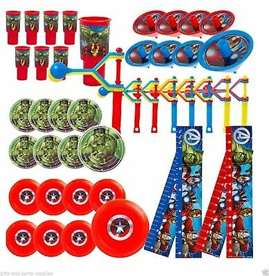 HUGE PACK 48 Avengers Party Favours Loot Bag Fillers Super Hero Party Supplies