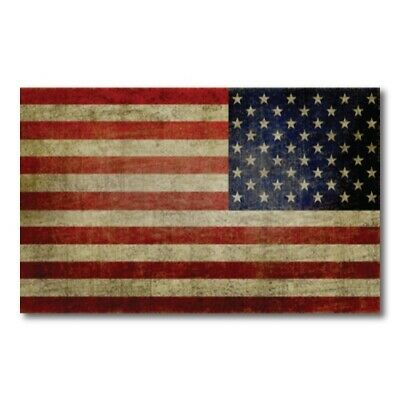 American Flag Magnet Large Size 5x8 inch Reverse Weathered Decal for Car/Fridge