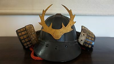 Very Fine Japanese EDO Period Samurai Kabuto Helmet with Maedate