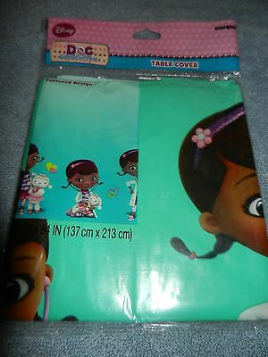 Disney Doc McStuffins Birthday Party Plastic Rectangle Table Cover 54 X 84