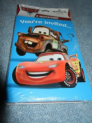 Hallmark Brand Disney Pixar Cars Birthday Party Invitations