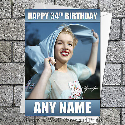 Marilyn Monroe Birthday Card Personalised Plus Envelope 340