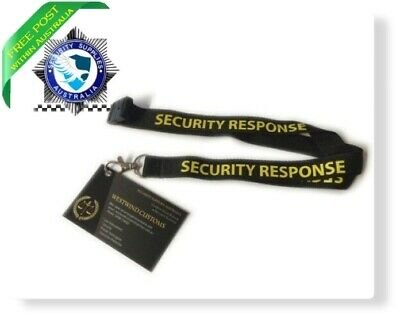 Security Lanyard - Breakaway Section - Black & White - NEW
