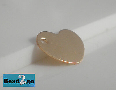 14k Gold Filled Tiny Heart Charm Pendant 8.5x6.6mm small goldfilled Heart Charm