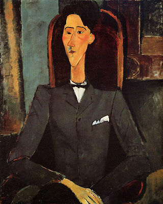 Stunning Oil painting amedeo modigliani - Portrait of Jean Cocteau no framed art
