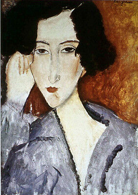 No framed Oil painting amedeo modigliani - Portrait of Madame Rachele Osterlind