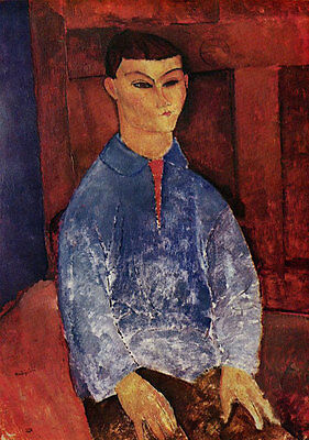 No framed Oil painting amedeo modigliani - Male Portrait of Moise Kisling canvas