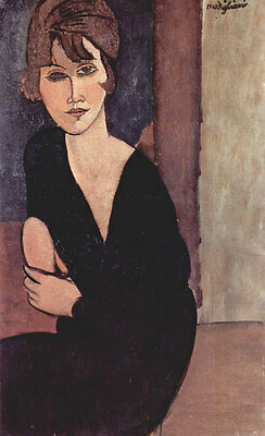 No framed Oil painting amedeo modigliani - Portrait of Madame Reynouard canvas