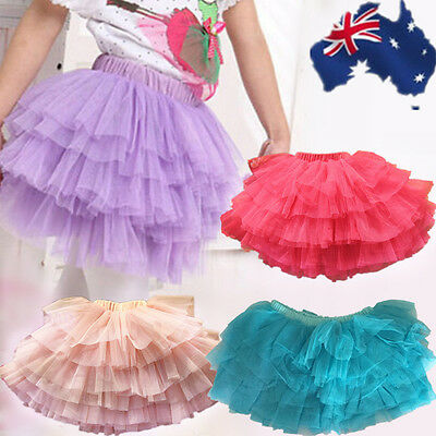 Tutu Girl Dance Ballet Skirt Candy Color Multi Layers Child Costume CSKIR 37