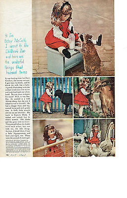 ORIGINAL Betsy McCall Paper Doll- Children's Zoo - October 1961