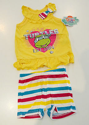 Disney Girls Printed Shorty Sets - YELLOW - SIZES - 2,3 & 4 YEARS - NEW