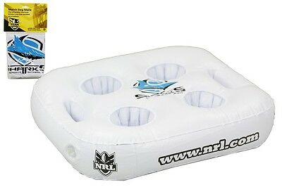 "NRL Inflatable Drink Tray / Seat Cushion / Sign ""Match Day Mate"" Cronulla Sharks"
