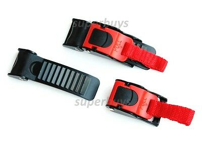 Fast Quick Release Helmet Buckle, Clip Cord Chin Strap Bag Motorcycle Bicycle T3