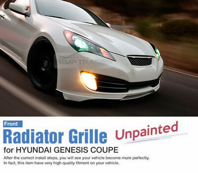 Front Hood Radiator Grille Unpainted for HYUNDAI 2009 - 10 11 12 Genesis Coupe