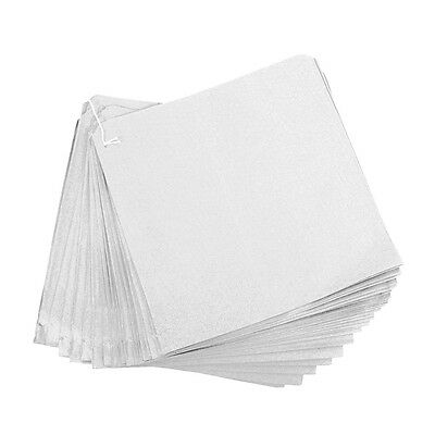 """100 x Small White Paper Bags 8.5""""x8.5"""" Markets, Fruit, Sweets, Crafts, Gifts"""