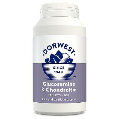 Dorwest Glucosamine and Chondroitin Tablets x 200, fast dispatch