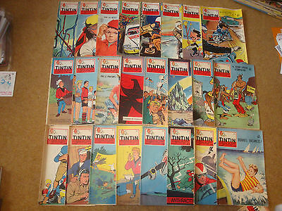 1958 Tintin Journals with SOS Meteors EP Jacobs - sold individually - No.2-37.