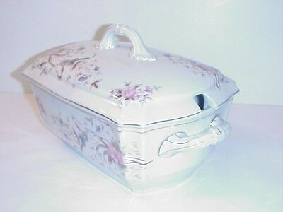 Marx & Gutherz Carlsbad Austria Covered Tureen Very Large Antique C.1886