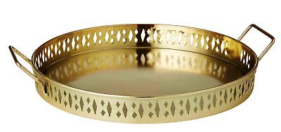 NEW ANNA GARE COCKTAIL HOUR TRAY Drink Drinks Serving Serve Handles GOLD COLOUR