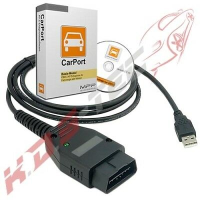 Carport Vollversion + KKL & CAN Interface für VAG VW Audi Seat Skoda Diagnose ..