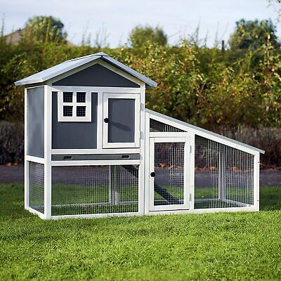 Plastic Rabbit Hutch Guinea Pig Hutches Run Runs Large 2 Tier Double Decker
