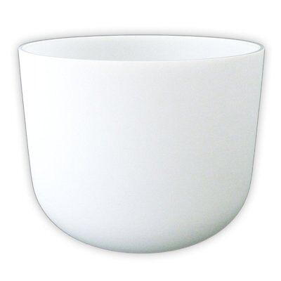 432 Hz Frosted B Crown Crystal Singing Bowl 10""